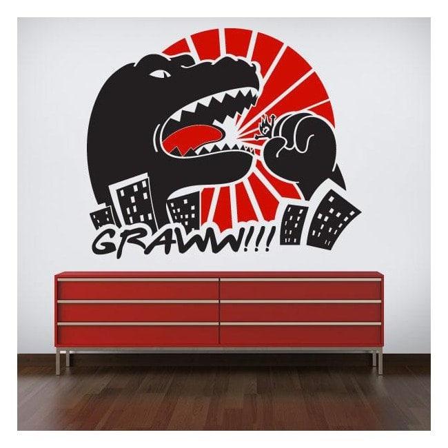 Mur décoratif vinyl Godzilla