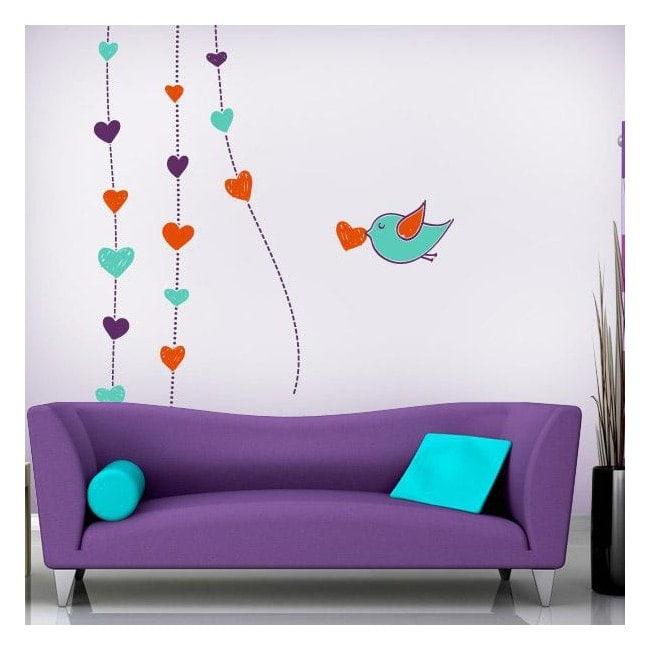 C ur romantique de murs d coratifs en vinyle for Murs exterieurs decoratifs