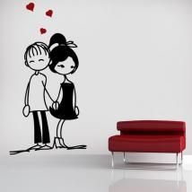 Panneaux luminescents divisant fluowall amoureux romantique