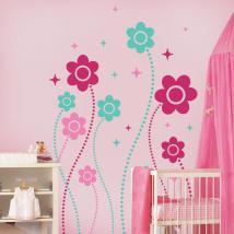 Mur de vinyle décoratif Floral Fantasy