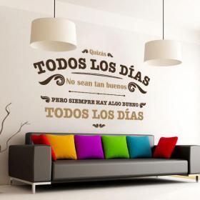 Phrases décoratifs vinyle tous les jours