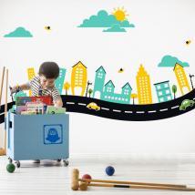 Ville de vinyle décoratif enfant