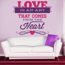 Panneaux luminescents divisant fluowall amour romantique