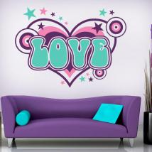 Amour de vinyle décoratif