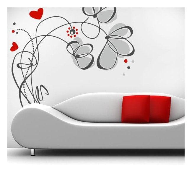 Vinyle décoratif fleurs amour French 759