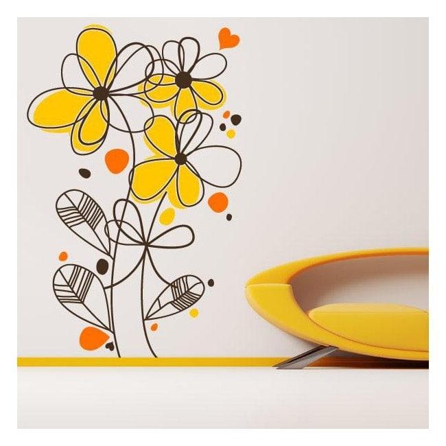 Fleurs romantiques vinyle décoratif French 760