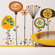 Fleurs décoratives de vinyle du paradis