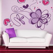 Stickers muraux fleur romantique French 770