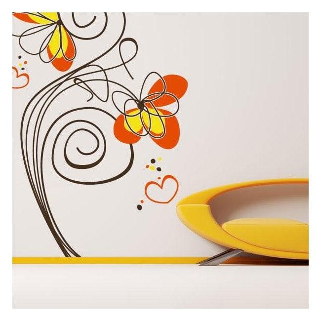 Fleurs décoratives de vinyle de lamour French 771