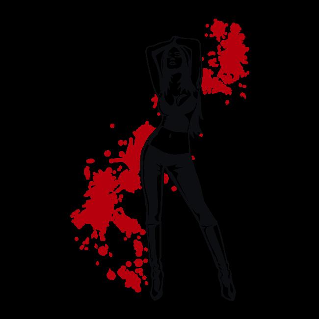 Vinyle silhouettes 007 james bond girl - Deguisement james bond girl ...