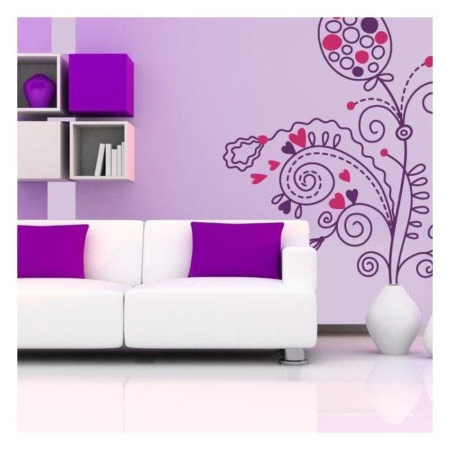 Romantisme Floral de fleurs vinyle