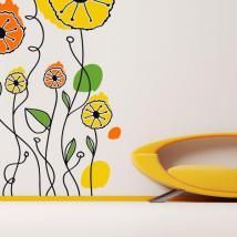 Caractère Floral de vinyle