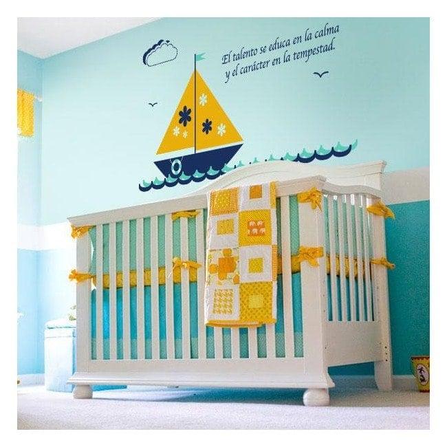 Bateau enfant vinyle décoratif