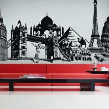 Villes et monuments du vinyle monde