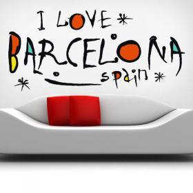 Vinyle j'adore Barcelone Espagne