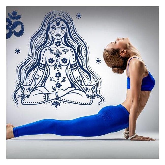 Panneaux luminescents divisant la méditation relaxation fluowall Yoga