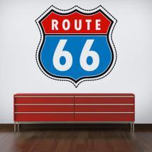 Route de vinyle autocollant 66