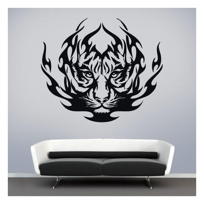 Animal vinyle tigre Tribal