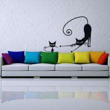 Murs de vinyle autocollants chats