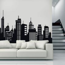 Villes de bâtiments décoratifs vinyle