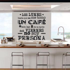 Textes de vinyle cafés lundi