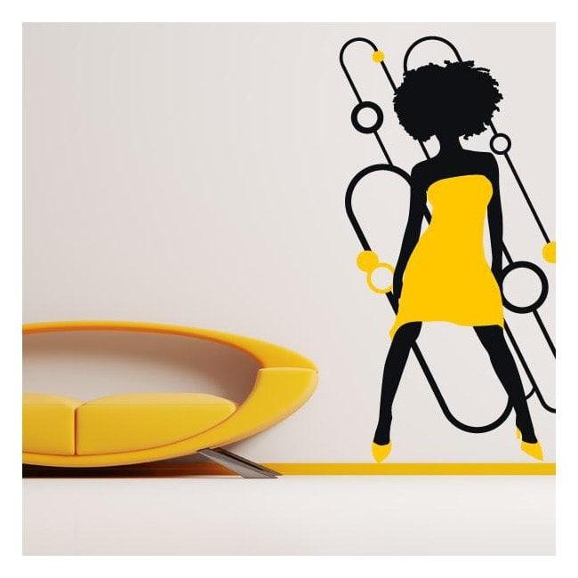 Femme de silhouette décoratif vinyl Soul