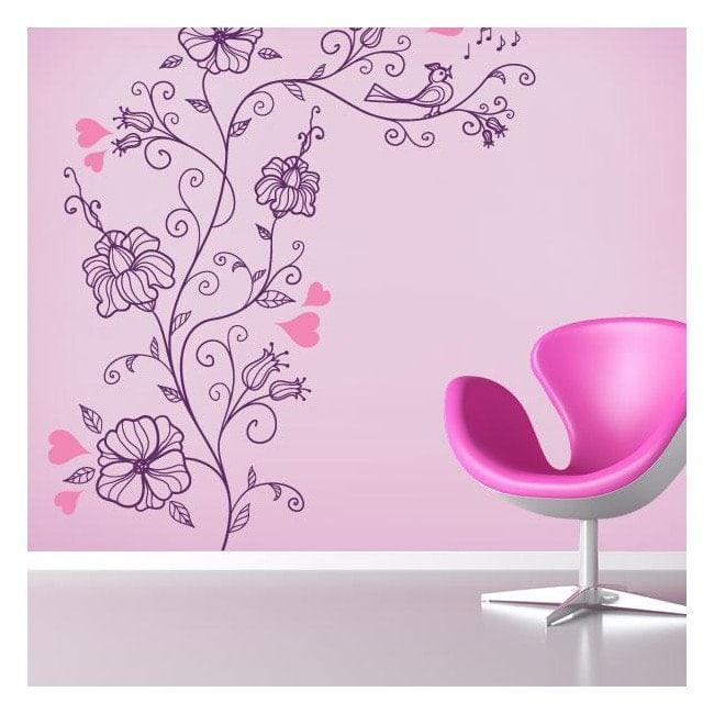 Vinyle et autocollants fleur romantique