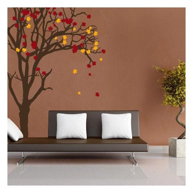 Autocollants et vinyle arbre automne