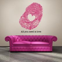 Impression vinyle décoratif de l'amour