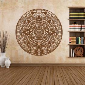 Pierres décoratives vinyle du calendrier aztèque Sun