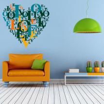 Textes de vinyle décoratif coeur amour