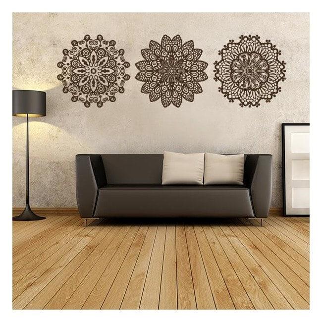 Rosettes décoratives de vinyle
