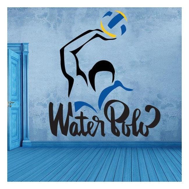 Autocollants en vinyle décoratif et stickers water polo
