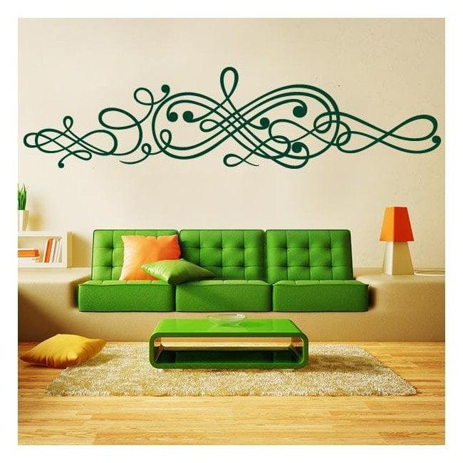 Filigrane d 39 autocollant vinyle adh sif d coratif for Autocollant dcoratif mural