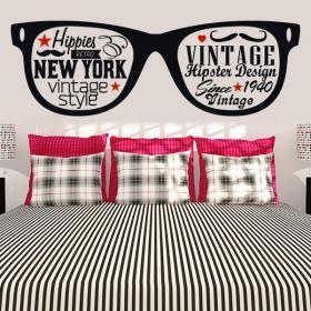 Stickers vinyl décoratif adhésif Hipster
