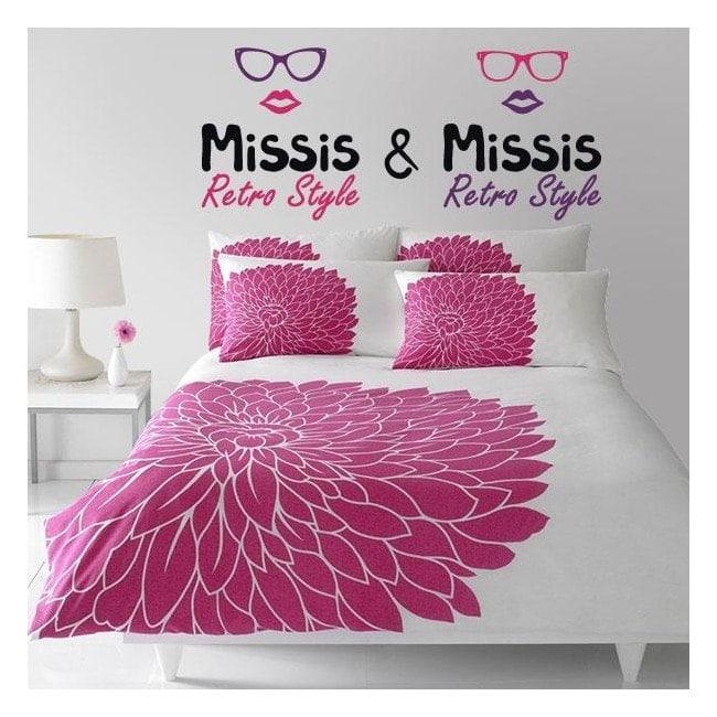Vinyles adhésifs décoratifs Missis et Missis