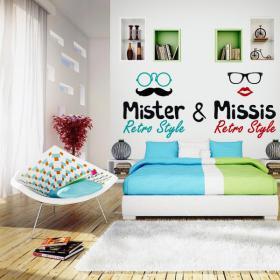 Têtes de lit décoratifs vinyl bed & M. Missis