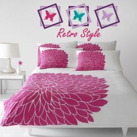 Lit de papillon Retro vinyle décoratif têtes de lit
