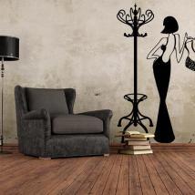 Portemanteau décoratif ou vinyle Vintage Hanger French 949