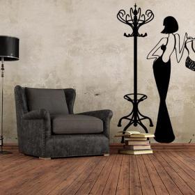 Portemanteau décoratif ou vinyle Vintage Hanger