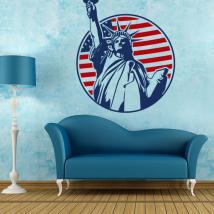 Statue décorative de vinyle de la liberté New York