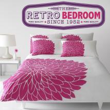 Autocollants rétro et décoration chambre à coucher