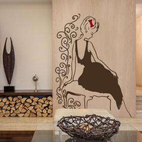 Vinyle décoratif silhouette féminine Glamour