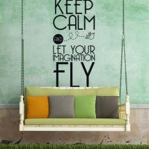 Vinyle décoratifs phrases et des textes Keep Calm
