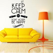Décoratif vinyl stickers et autocollants pour garder le calme