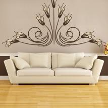 Redevance de fleurs décoratif vinyle et autocollants