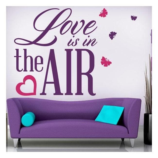 Vinyle décoratif phrases amour est dans l'Air