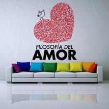 Vinyle décoratif phrases de philosophie de l'amour