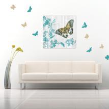 Autocollants en vinyle décoratif et papillons autocollants