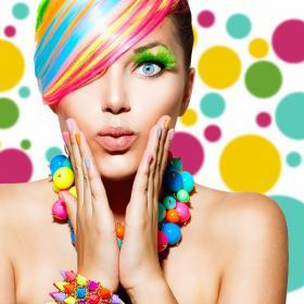 Cercles d'adhésif vinyle décoratif de couleurs